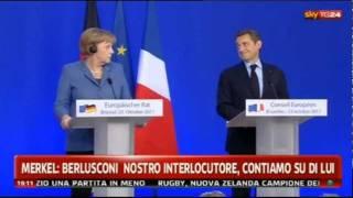 getlinkyoutube.com-La Merkel e Sarkozy ridono di Berlusconi (23/10'11)