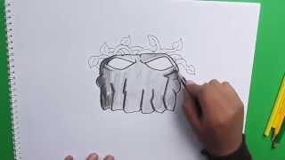 getlinkyoutube.com-Dibujar paso a paso Come Piedras (Plantas vs Zombies) - Come to draw step by step Stones