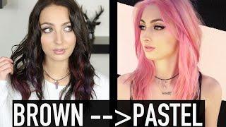 getlinkyoutube.com-HOW TO:  BROWN TO PASTEL HAIR