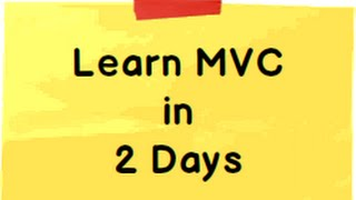 getlinkyoutube.com-Learn ASP.NET MVC 5 ( Model view controller) step by step  in 2 days ( 16 hours)