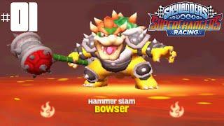 getlinkyoutube.com-Skylanders SuperChargers Racing 3DS -- Part 1: Pedal to the Metal