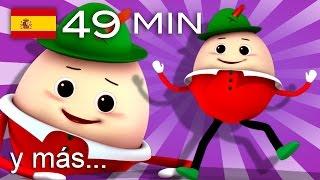 getlinkyoutube.com-Humpty Dumpty al muro trepó | Y muchas más canciones infantiles | ¡49 min de LittleBabyBum!