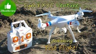 getlinkyoutube.com-✔ Syma X8c - Дешевый Квадрокоптер для Gopro! Распаковка. Banggood.com