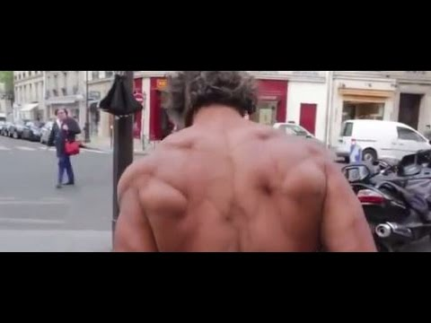 French homeless man, 50 years old, aids patient, street bodybuilder!!!