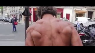 French homeless man, 50 years old, aids patient, street bodybuilder!!! (English subtitles)