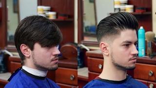 getlinkyoutube.com-Haircut Tutorial: 2017 Pompadour Make Over