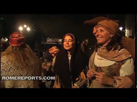 Rome's Trastevere neighborhood hosts spectacular living Nativity scene