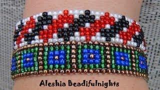 getlinkyoutube.com-Loom Beaded Bracelet Tutorial