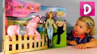 getlinkyoutube.com-✿ Кукла и Лошадка для Барби Набор Распаковка Doll and Barbie Horse Unpacking