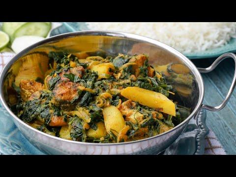 মেথি শাকের মেছো কারি ॥ Methi Saag Curry ॥ Fenugreek Leaves Curry ॥ Bangla Recipe ॥ R# 110