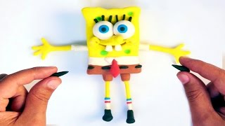 getlinkyoutube.com-Spongebob Play doh STOP MOTION video. Animación de Bob Esponja