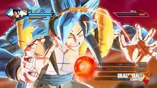 getlinkyoutube.com-Super Saiyan Blue 4 Transformation for CaC | Dragon Ball Xenoverse