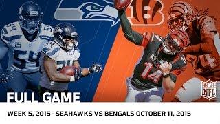 Bengals Big Comeback for OT Win vs. Seahawks (Week 5, 2015) | NFL Full Game