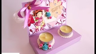 getlinkyoutube.com-Scatola regalo porta candele - Candle gift box