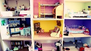 getlinkyoutube.com-HUGE AMERICAN GIRL DOLLHOUSE TOUR! (2014)