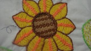 getlinkyoutube.com-Bordado Fantasia  Cadena Girasol