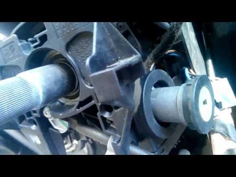 Opel Zafira снять личинку замка зажигания