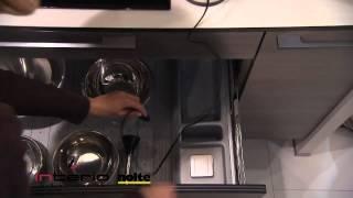 Gniazda elektryczne w szufladzie - meble kuchenne Nolte
