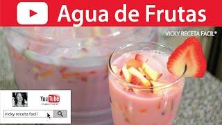 getlinkyoutube.com-AGUA DE FRUTAS   Vicky Receta Facil