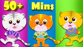getlinkyoutube.com-Three Little Kittens and Many More Animal Rhyme Cartoons | 50 minute plus compilation