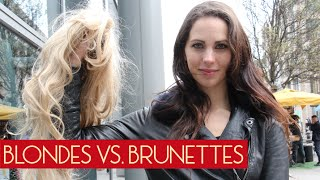 getlinkyoutube.com-Blondes Vs. Brunette (Social Experiment)