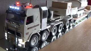 getlinkyoutube.com-Tamiya 1/14 RC Truck  (start-up & shut-down of the Volvo FH12