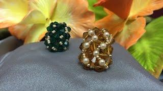 getlinkyoutube.com-Como hacer Anillo de SWAROVSKI con tupis de 6 mm -- How to make a ring with SWAROVSKI tupís of 6 mm