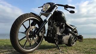 getlinkyoutube.com-Harley Davidson Breakout Custom Vance & Hines Sound