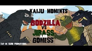 getlinkyoutube.com-Godzilla vs Jirass and Gomess  KAIJU MOMENTS # 04 Tap de Suro Produccions
