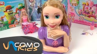 getlinkyoutube.com-Juguete de Rapunzel, peinados especiales