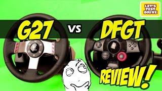 getlinkyoutube.com-Logitech G27 vs Logitech Driving Force GT - Comparison Review