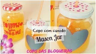getlinkyoutube.com-DIY: Como fazer Mason Jar ♥ Copo com canudo