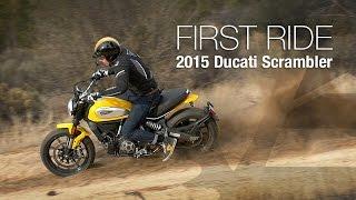 getlinkyoutube.com-2015 Ducati Scrambler First Ride - MotoUSA