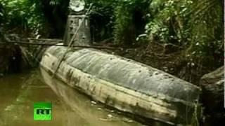 getlinkyoutube.com-Narcosub: 'Drug Submarine' seized in Colombia