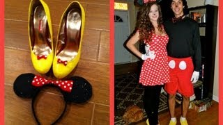 getlinkyoutube.com-Minnie Mouse Tutorial (DIY Costume and Makeup)
