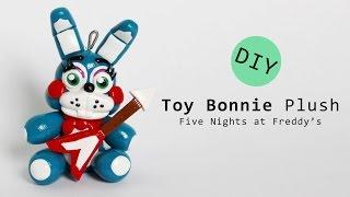 getlinkyoutube.com-Five Nights at Freddy's 2 Toy Bonnie Plush Polymer Clay Tutorial