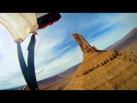 GoPro HD: Base Jumping Castleton Tower with Andy Lewis