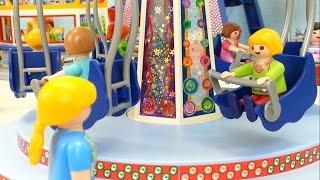 getlinkyoutube.com-Ausflug zum Freizeitpark Playmobil Film seratus1 Riesenrad Karussell Zug
