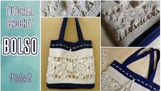 getlinkyoutube.com-Cómo tejer bolso o cartera a crochet (2/3)