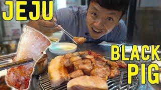 KOREAN BBQ SPECIAL: BBQ Black Pork in Jeju South Korea width=