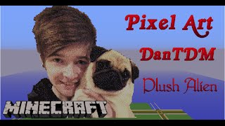 getlinkyoutube.com-Minecraft Pixel Art SpeedBuild | TheDiamondMinecart/DanTDM