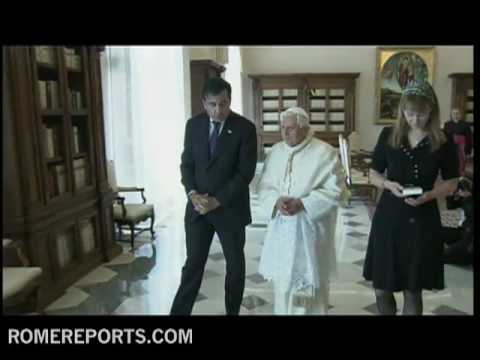 Benedict XVI meets with the president of Georgia  Mikheil Saakashvili