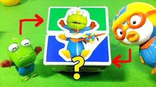 getlinkyoutube.com-뽀로로와 스티커 큐브 ★뽀로로 장난감 애니 Pororo Sticker Cube Toys
