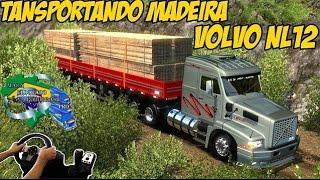 VOLVO EDC NL12 -TRANSPORTANDO MADEIRA -  ESTRADAS RUINS - G27!!!