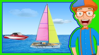 getlinkyoutube.com-Boats for Preschoolers | The Blippi Boat Song