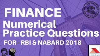 Finance Numerical Practice Questions - For RBI & NABARD 2018 By Anuj Jindal