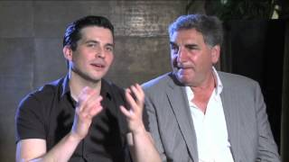 getlinkyoutube.com-Downton Abbey interview: Rob James-Collier and Jim Carter on working with Shirley MacLaine