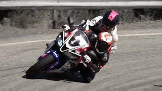 getlinkyoutube.com-Mulholland Riders 7/16 - Fast Two Up, Aprilia RSV4, Speeding Ticket
