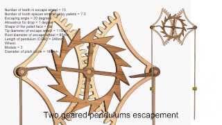 getlinkyoutube.com-Two Geared Pendulums Escapement - Jean Baptiste Dutertre