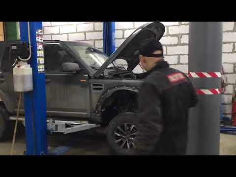 Снимаем кузов с рамы Land Rover
